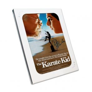 Ralph Macchio Signed The Karate Kid Poster. In Gift Box