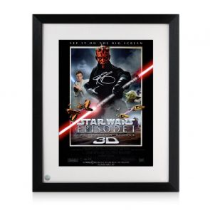 Darth Maul Signed Star Wars Poster: The Phantom Menace Framed