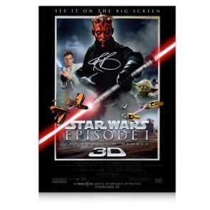 Darth Maul Signed Star Wars Poster: The Phantom Menace