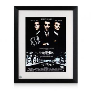 Ray Liotta Signed Goodfellas Poster. Framed