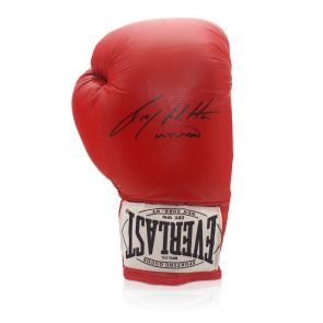 Signed Ricky Hatton boxing glove