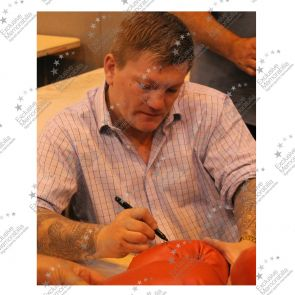 Ricky Hatton Signed Red  Everlast Boxing Glove