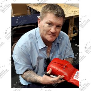 Ricky Hatton Signed Red Boxing Glove Framed