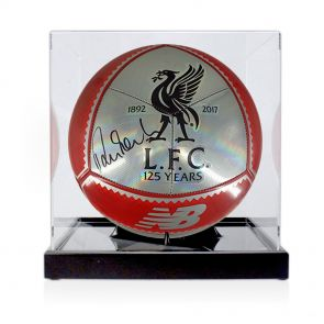 Robbie Fowler Signed Liverpool Football In Display Case