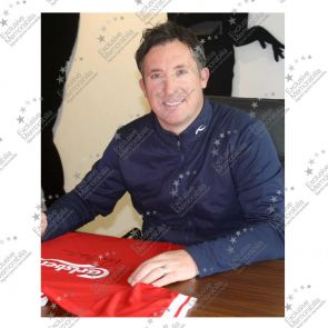 Robbie Fowler Signed Liverpool Football Shirt. 1996. In Gift Box
