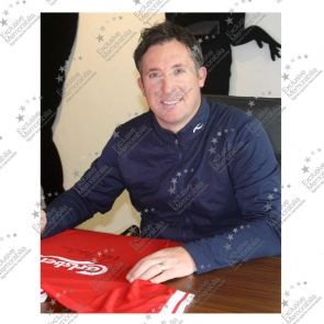 Robbie Fowler Signed Liverpool Shirt 1996 - Damaged Stock