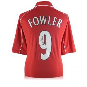 Robbie Fowler Back Signed 2001 Liverpool Shirt