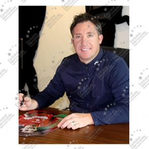 Robbie Fowler Signed Liverpool Photo: UEFA Cup Celebration. In Gift Box