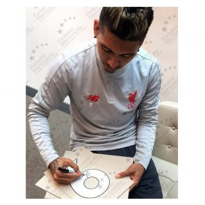 Roberto Firmino Signed Liverpool Shirt. In Gift Box