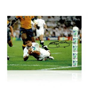 Jason Robinson Signed England Rugby Photo: World Cup Final Try