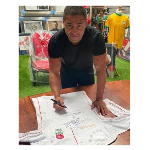 Jonny Wilkinson, Martin Johnson And Jason Robinson Signed England Rugby Shirt
