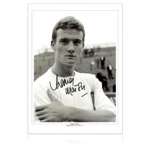 Signed Rodney Marsh Fulham Photo