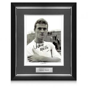 Rodney Marsh Signed Fulham Photo. Deluxe Frame