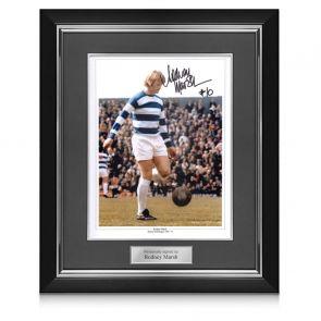 Rodney Marsh Signed QPR Photo Deluxe Frame