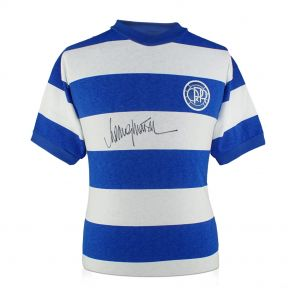 Rodney Marsh Signed Queens Park Rangers Football Shirt In Gift Box