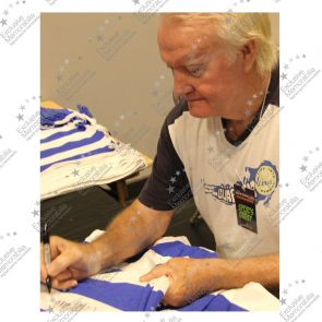 Rodney Marsh Signed Queens Park Rangers Football Shirt. Deluxe Frame