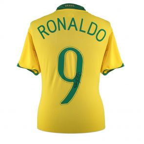 Ronaldo de Lima Signed 2006-08 Brazil Home Shirt