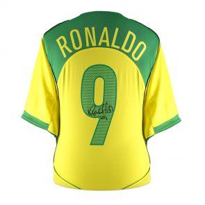 Ronaldo de Lima Signed 2004-06 Brazil Home Shirt