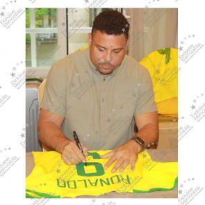 Ronaldo de Lima Signed 2002-04 Brazil Home Shirt