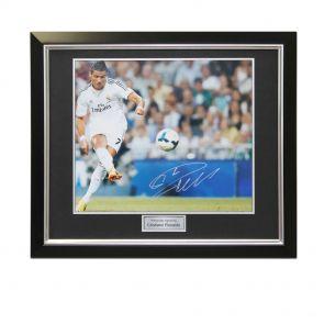 Framed Cristiano Ronaldo Signed Real Madrid Photo