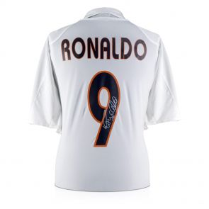 Ronaldo de Lima Signed 2004-05 Real Madrid Home Shirt In Gift Box