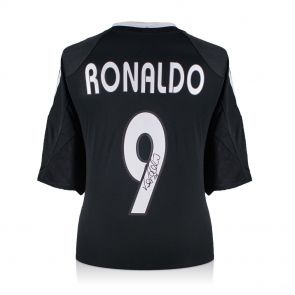 Ronaldo de Lima Signed 2004-05 Real Madrid Away Shirt In Gift Box