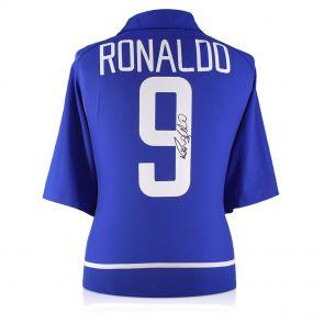 Ronaldo de Lima Signed 2002-04 Brazil Away Shirt