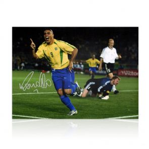 Ronaldo de Lima Signed Brazil Photo: World Cup Final Goal