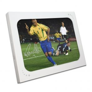 Ronaldo de Lima Signed Brazil Photo: World Cup Final Goal In Gift Box