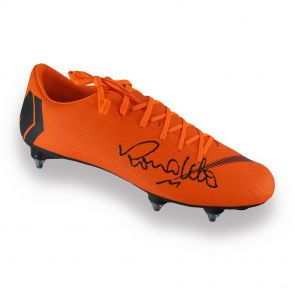 Ronaldo de Lima Signed Mercurial Football Boot In Display Case