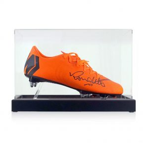 Ronaldo de Lima Signed Nike Mercurial Football Boot In Display Case - Right