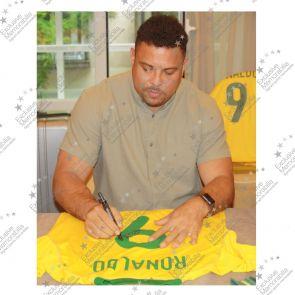 Ronaldo de Lima Signed 2000-02 Brazil Home Shirt