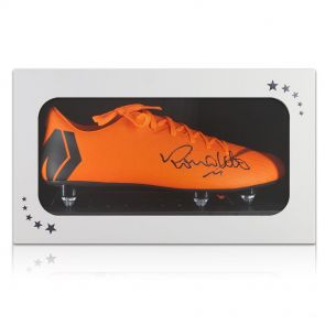 Ronaldo de Lima Signed Nike Mercurial Football Boot - Right In Gift Box