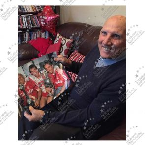 Roy Evans And Ronnie Moran Signed Liverpool Photo: The Boot Room