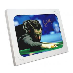 Ronnie O'Sullivan Signed Photo: 1000th Century. In Gift Box