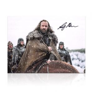 Sandor Clegane Signed Game Of Thrones Photo: The Hound