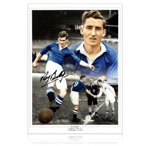 Signed Roy Bentley Chelsea Photo
