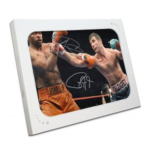 Joe Calzaghe and Roy Jones Jr Photo In Gift Box
