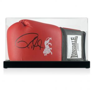 Roy Jones Junior Signed Boxing Glove In Display Case
