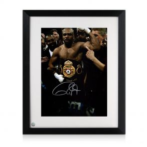 Roy Jones Jr Signed Framed Boxing Photo