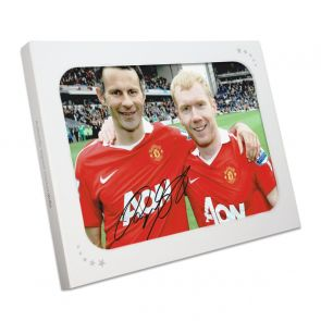 Ryan Giggs Signed Photo: Manchester United Legends. In Gift Box