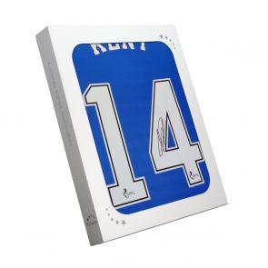 Ryan Kent Signed Rangers Shirt. 2020-21. In Gift Box