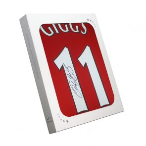 Ryan Giggs Signed Manchester United Shirt. In Gift Box