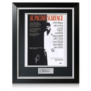 Framed Al Pacino signed Scarface Poster
