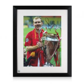 Paul Scholes Signed Manchester United Photo: Champions League Winner. Framed
