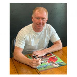 Paul Scholes Signed Manchester United Photo: Champions League Winner. Deluxe Frame