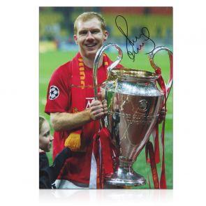 Paul Scholes Signed Manchester United Photo: Champions League Winner