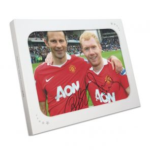 Paul Scholes And Ryan Giggs Signed Manchester United Photo. Gift Box