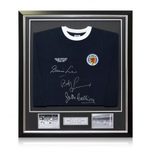 Framed Multi Signed Scotland Shirt