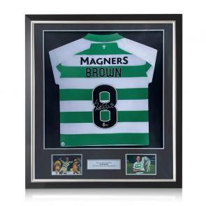 Scott Brown Signed Celtic Shirt. 2019-20. Deluxe Frame